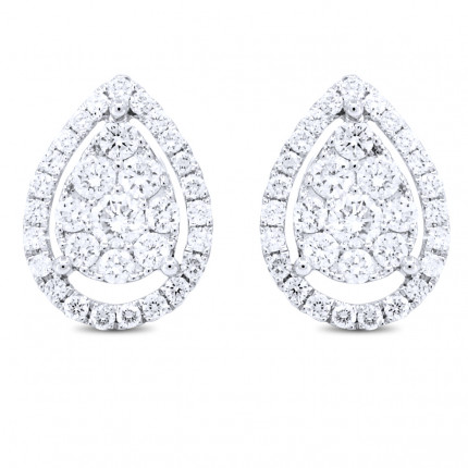 ER64643W | Cluster Earrings | Payroll Jewelry
