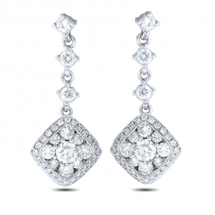 ER72709W | Cluster Earrings | Payroll Jewelry