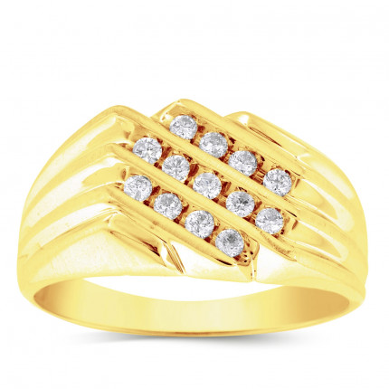 GR1257MY | Yellow Gold Mens Ring. | Payroll Jewelry