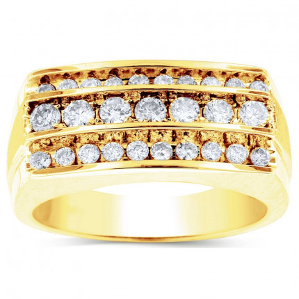 GR27604Y   Yellow Gold Mens Ring.   Payroll Jewelry