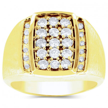 GR27608Y   Yellow Gold Mens Ring.   Payroll Jewelry