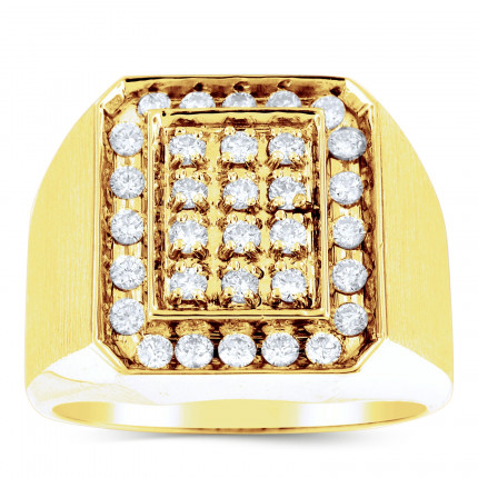 GR32647Y | Yellow Gold Mens Ring. | Payroll Jewelry