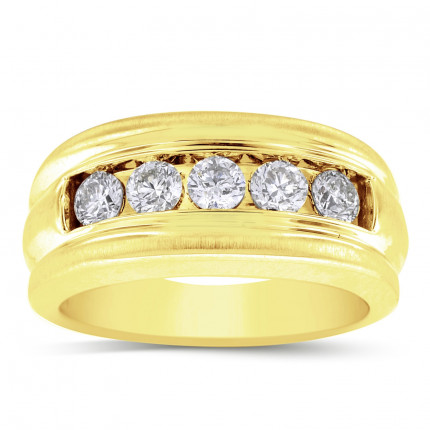 GWB1938BY | Yellow Gold Mens Ring. | Payroll Jewelry