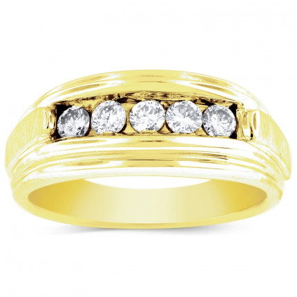 GWB2553BY   Yellow Gold Mens Ring.   Payroll Jewelry