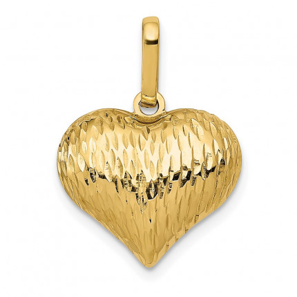 K170 | Gold Heart Pendant | Payroll Jewelry