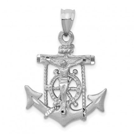 K408 | Gold Mariner's Cross Pendant | Payroll Jewelry