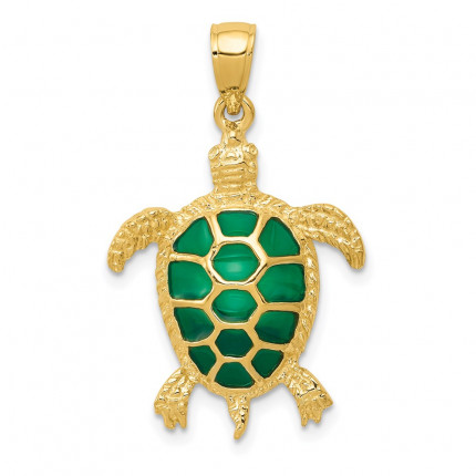 K4256 | Gold Sea Turtle Pendant | Payroll Jewelry