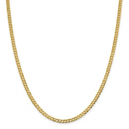 3.7mm Cuban Chain | 14K Yellow Gold | 24 Inch