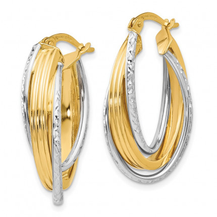 LE1306 | Gold Hoop Earrings | Payroll Jewelry
