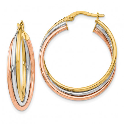 LE419 | Gold Hoop Earrings | Payroll Jewelry