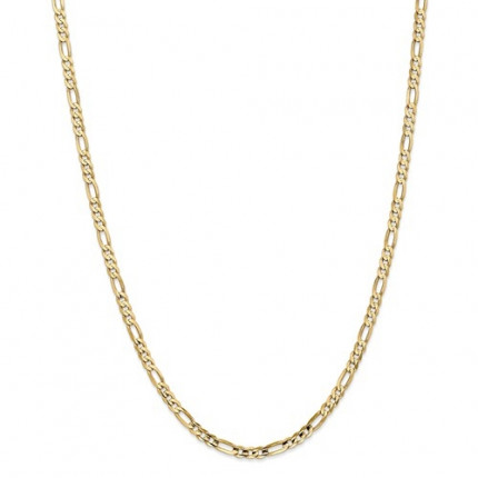 4mm Figaro Chain | 10K Yellow Gold | 24 Inch