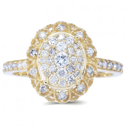 LR332Y | Halo Rings | Payroll Jewelry