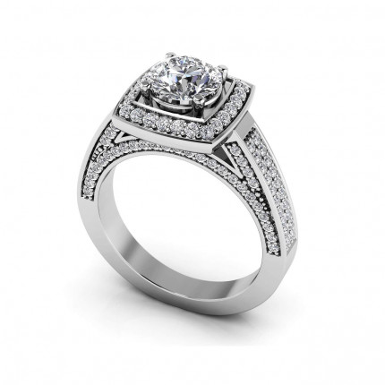 MS165-A | Halo Engagement Ring | Payroll Jewelry