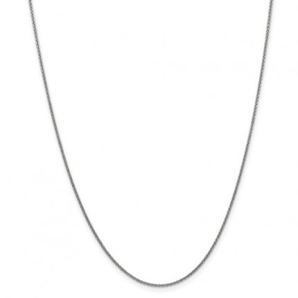 1.4mm Cable Chain | 14K White Gold | 24 Inch