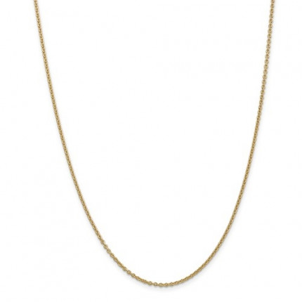 1mm Cable Chain | 14K Yellow Gold | 24 Inch
