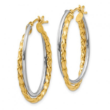 PRE797 | Gold Hoop Earrings | Payroll Jewelry