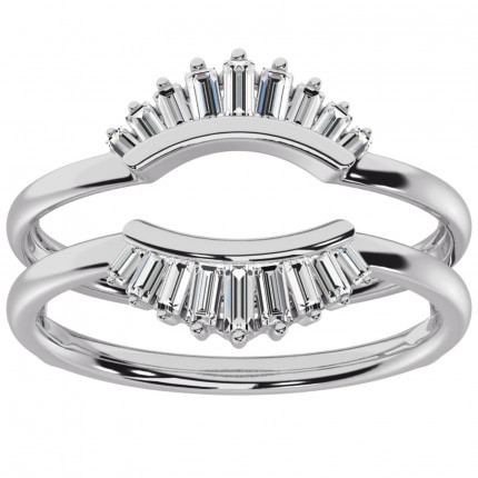 RG63803W   White Gold Ring Guard   Payroll Jewelry