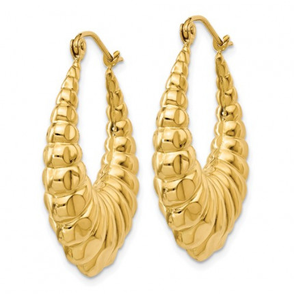 S1242 | Gold Hoop Earrings | Payroll Jewelry