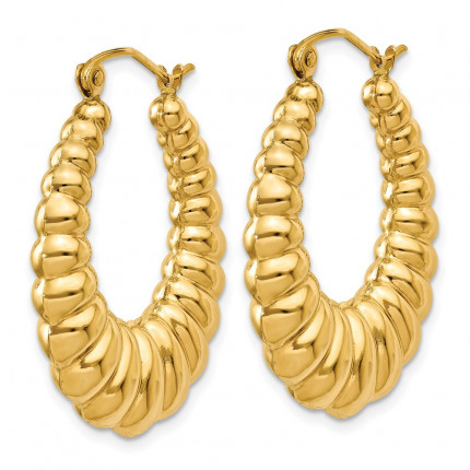 S1502 | Gold Hoop Earrings | Payroll Jewelry
