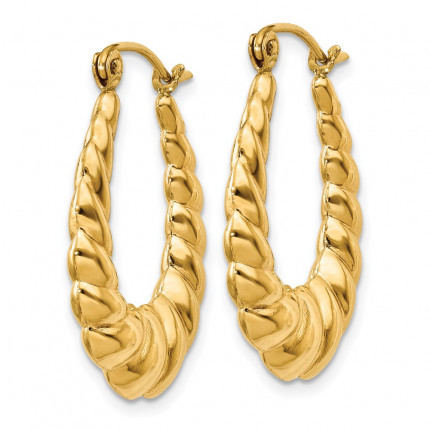 S837 | Gold Hoop Earrings | Payroll Jewelry