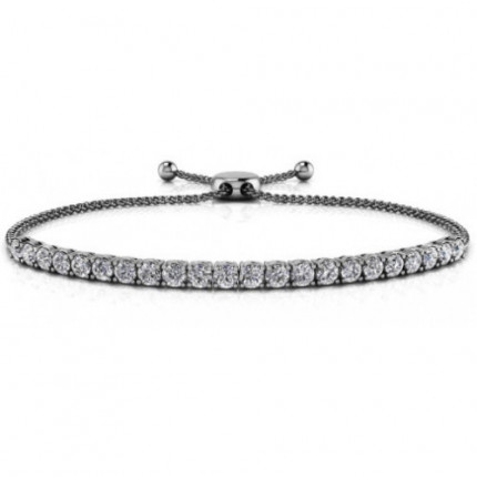 SB845B-1CT | White Gold Diamond Bracelet | Payroll Jewelry
