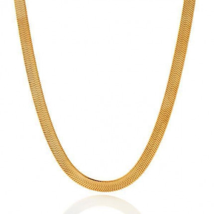 5mm Silky Herringbone Chain | 10K Yellow Gold | 20 Inch