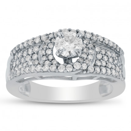 SM4-061033 | Side Stone Engagement Ring | Payroll Jewelry