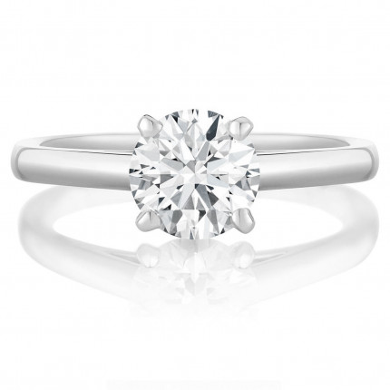 BR433W | Solitaire Engagement Ring | Payroll Jewelry