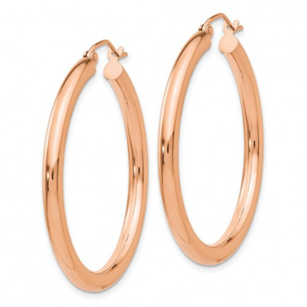 T1007 | Gold Hoop Earrings | Payroll Jewelry