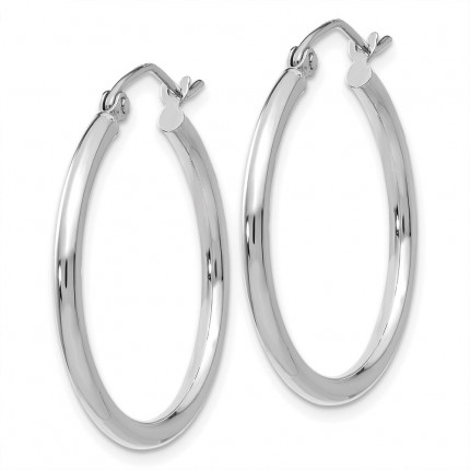 T827L | Gold Hoop Earrings | Payroll Jewelry