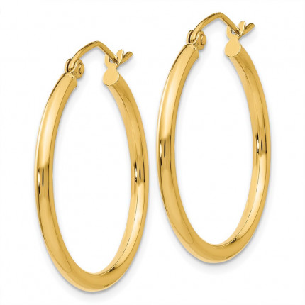 T915L | Gold Hoop Earrings | Payroll Jewelry