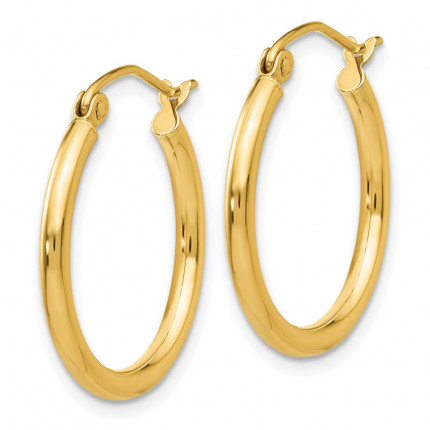T916L | Gold Hoop Earrings | Payroll Jewelry