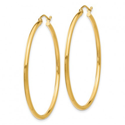 T920L | Gold Hoop Earrings | Payroll Jewelry