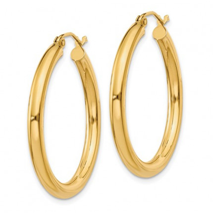 T936L | Gold Hoops | Payroll Jewelry