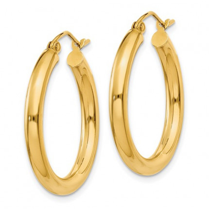 T937L | Gold Hoop Earrings | Payroll Jewelry