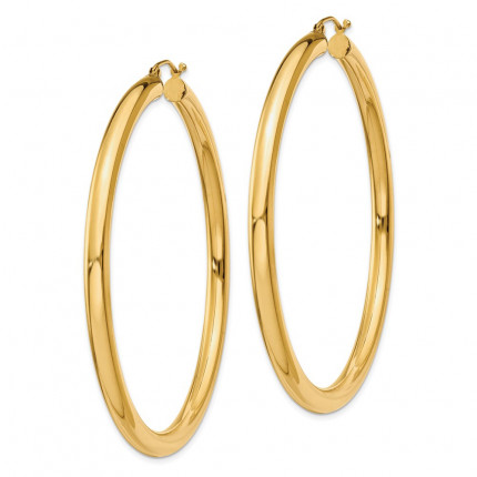 T954L | Gold Hoop Earrings | Payroll Jewelry
