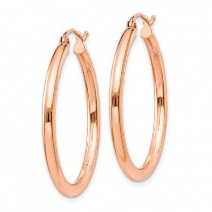 TE533 | Gold Hoop Earrings | Payroll Jewelry