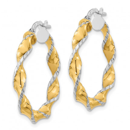 TF1150 | Gold Hoop Earrings | Payroll Jewelry