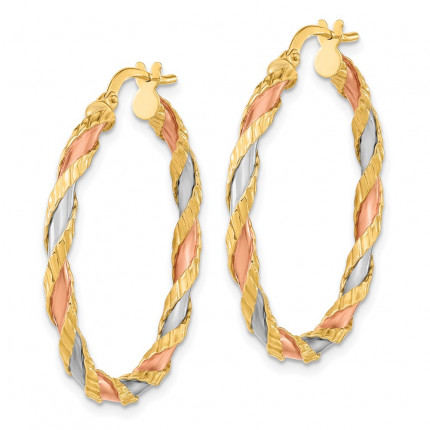 TF2092 | Gold Hoop Earrings | Payroll Jewelry