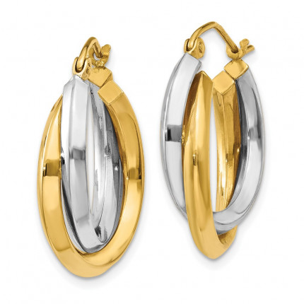 TM395 | Gold Hoop Earrings | Payroll Jewelry