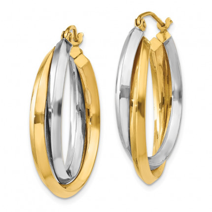 TM396 | Gold Hoop Earrings | Payroll Jewelry