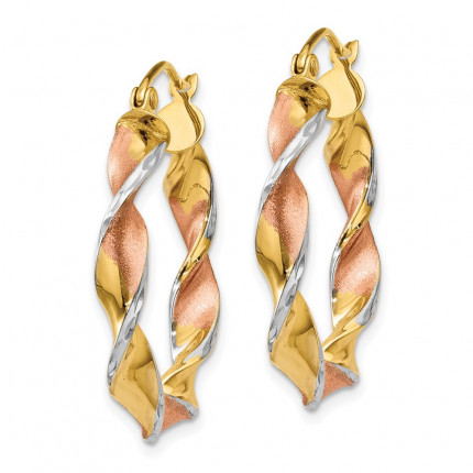 TM408 | Gold Hoop Earrings | Payroll Jewelry