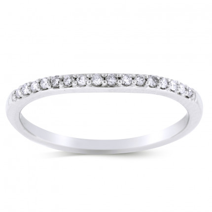 WB1693W | White Gold Band | Payroll Jewelry