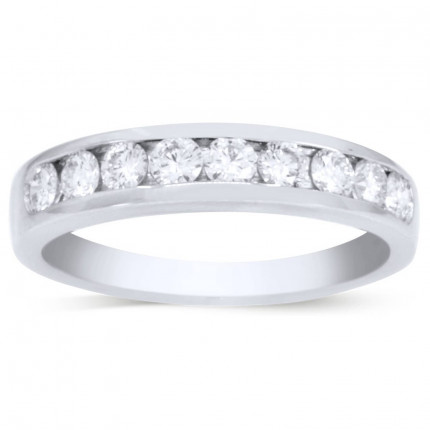 WB9552PLT   White Gold Band   Payroll Jewelry