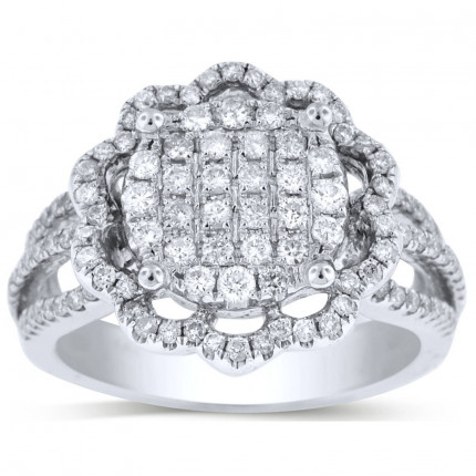 WLR120614W | Halo Ladies Engagement Ring | Payroll Jewelry