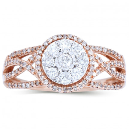 WLR141P | Payroll Jewelry | Halo Engagement Ring