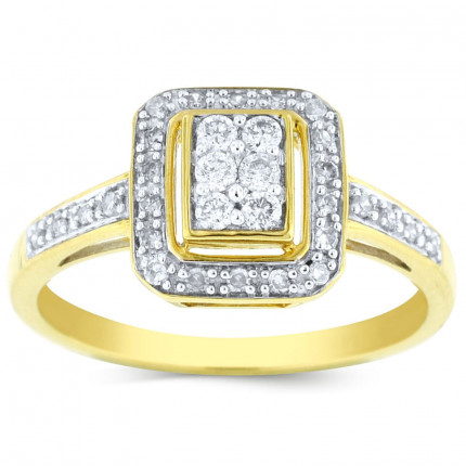 WLR25128Y | Halo Engagement Ring | Payroll Jewelry