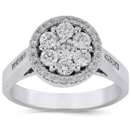 WLR41451W | Halo Ladies Engagement Ring | Payroll Jewelry