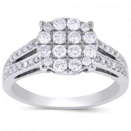 WLR48402W | Halo Ladies Engagement Ring | Payroll Jewelry