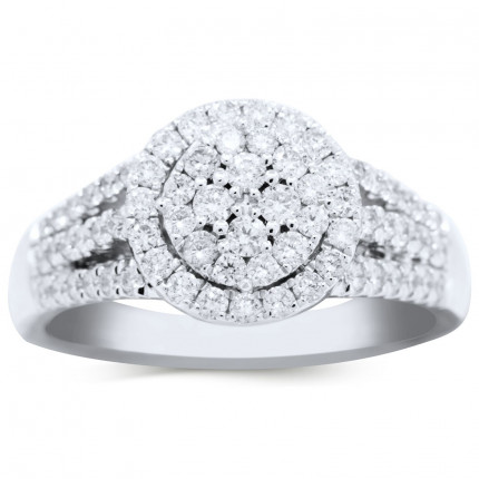 WLR518W | Halo Engagement | Payroll Jewelry